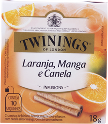 Infusion Naranja Mango Canela Twinings - Caja X 18G