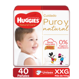 Huggies Pañales Natural Care Etapa 5/xxg 40ud