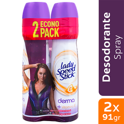 Desodorante Lady Speed Stick Vit E 2x91g