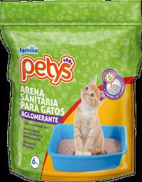 Arena Sanitaria Aglomerante para gatos Petys x 6 kg