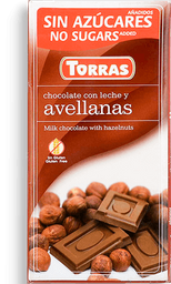Chocolate Torras Avellanas 75G