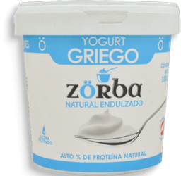 Yogurt Griego Zorba Nat Endulzado 1000G