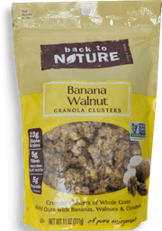 Back to Nature Granola Banana Walnut Clusters