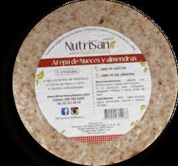 Arepa Nutrisano Nueces Y Almendras  5Und
