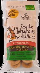 Rosquillas integrales de arroz