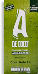 Agua Coco Natural A De Coco 1Lt