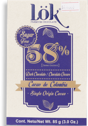 Chocolate Lok Cacao Dark 58 Sf 85G