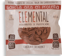 Galleta Elemental Choco Proteina 80G