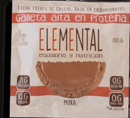 Galleta Elemental Moka Proteina 80G