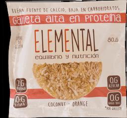 Galleta Elemental Coco Proteina 80G