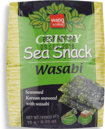 Snack Wang Crispy Algas Nori Wasabi 10G
