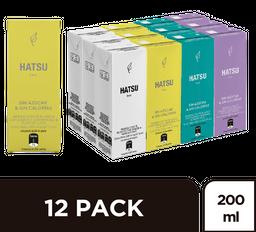 Hatsu Té 12 Pack Surtido Tetrapack
