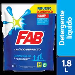 Detergente Fab Líquido Lavado Perfecto 1.8L