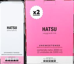 Hatsu Bebida de Almendra Sin Azucar DuoPack x 1 Litro