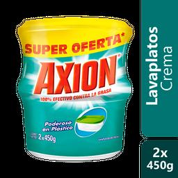 Lavaloza Axion Poder Plásticos Crema 450g x 2