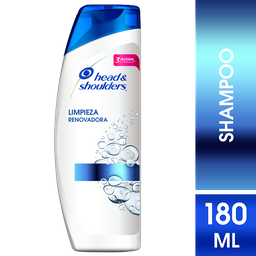 Head & Shoulders Limpieza Renovadora Shampoo 180ml