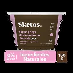 Sketos Yogurt Griego Descremado Con Dulce de Coco