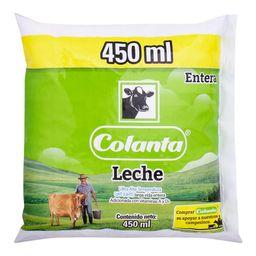 Leche Uht Entera Bolsa 450Ml Colanta 450 ml