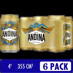 Cerveza Andina Six Pack - Cerveza Nacional 6 latas de 355 ml