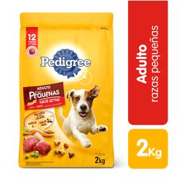 Pedigree raza pequeña 2 kg comida perro adulto