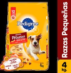 Pedigree raza pequeña 4 kg comida perro adulto