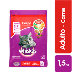 Whiskas comida gato carne 1.5 kg