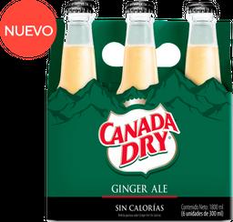 Gaseosa Canada Dry Ginger Cero sixpack 300 ml