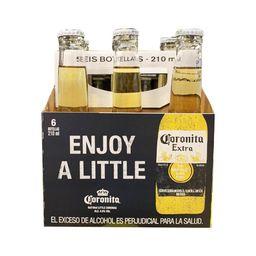 Cerveza coronita botella sixpack Corona 210 mL
