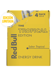 Fourpack Redbull Tropical Edition 250 Ml