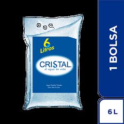 Agua Cristal Bolsa  x 6000 ml
