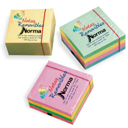 Notas Removibles 4 Colores Neón Norma