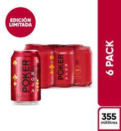 Cerveza Poker Roja - Lata 355 x6