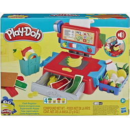 Play-Doh Caja Registradora Con Sonidos Accesorios y 4 Colores