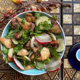 Fatush con Falafels (Vegetariana o Vegana)