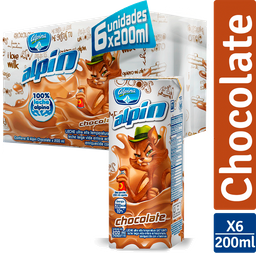 Alpín Chocolate X 6 Caja X 200Ml C/U