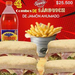 4 Sándwich de Jamón ahumado