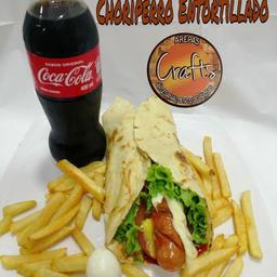 Choriperro Entortillado + Papa a la Francesa + Coca Cola