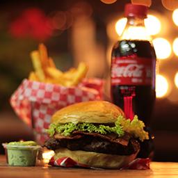 Combo Bacon! hamburguesa + papitas + bebida 🍔🍟🥤