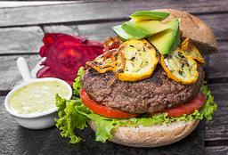 Hamburguesa saludable de carne