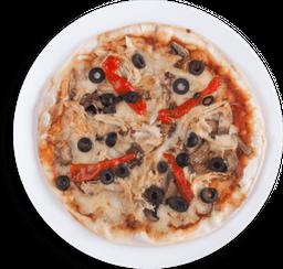 Pizza de Pollo rostizado con Champiñones