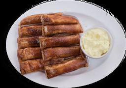 Cinnamon sticks con crema pastelera