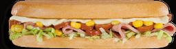 Sándwich Chorizo y Maíz