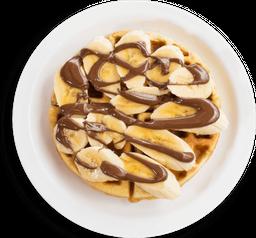 Nutella and banana waffle