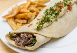 Shawarma khalifa + Limona de preferida