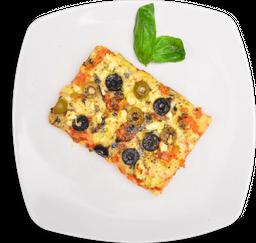 Porción de Pizza Mediterranea