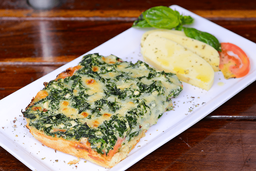 Porción de Pizza de Espinaca, Ricotta y Parmesano