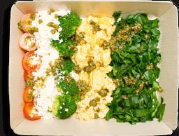 Tazón Huevos al Pesto y Espinaca