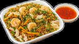 Arroz chino pollo y camarón