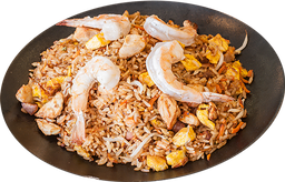 Arroz thai pollo y langostino