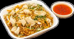 Khao pad gung pollo